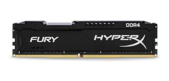 Memória Ram Gamer Hyperx Fury 16gb Ddr4 2400mhz Preto