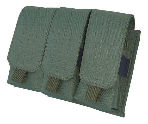 Portacargador Triple Para 6 Cargadores Molle - M4 M5 M16 Fal
