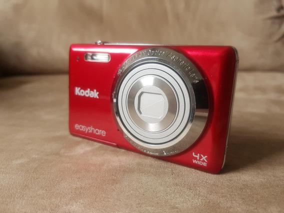Câmera Digital Kodak Easyshare 14 Mp Vermelha + Acessórios