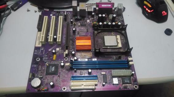 Placa Mãe P4vmm2 - Processador + 1gb De Ram