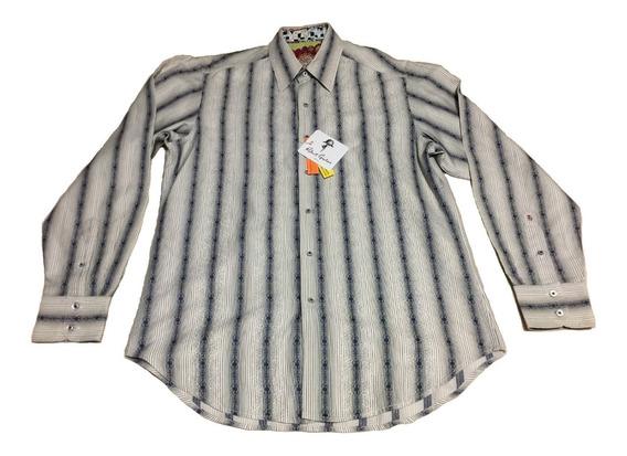 Camisa Robert Graham Caballero Diseñador Logo Indu