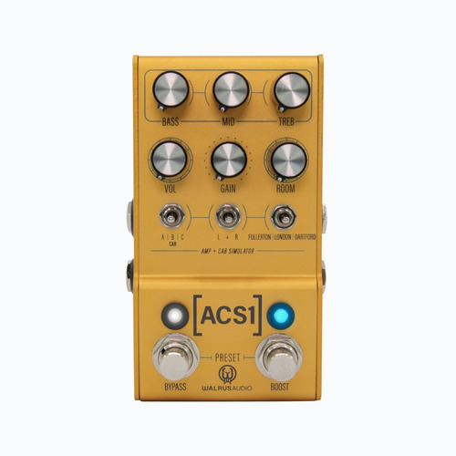 Pedal Acs1 Walrus Audio Amp & Cab Simulator Mako Series