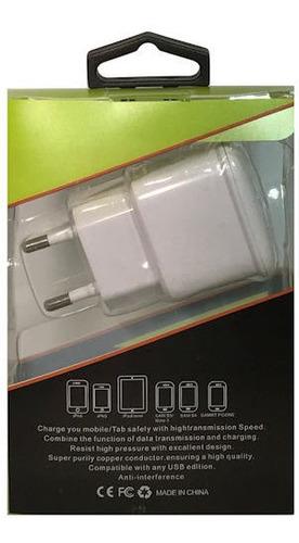 Cargador Compatible Carga Rapida Fast Charger 2 Puertos Usb