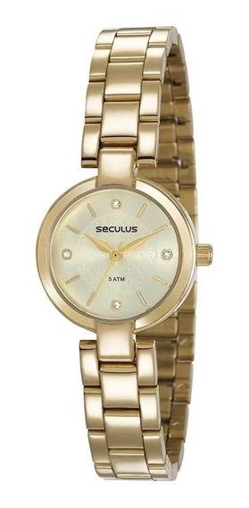 Relógio De Pulso Feminino Seculus 23594lpsvds1