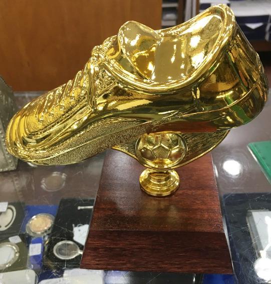 Trofeo Botin De Futbol - Figura Del Partido - Base Madera