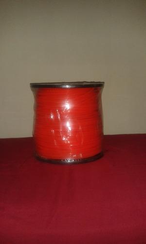Nylon Desmalezadora 3.3mm Cuadrado Naranja 5lb