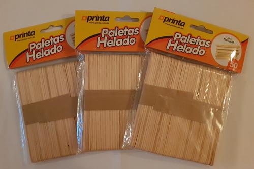 Paletas De Helado Color Natural Paq.x50. X 2 Paq. Ref. 1.80