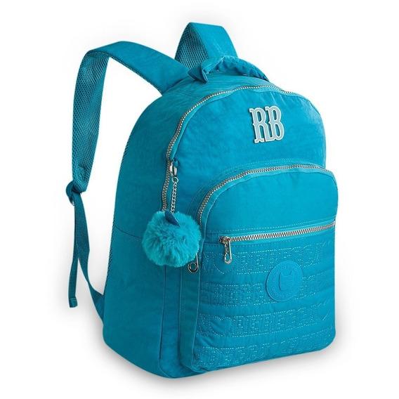 Mochila Juvenil Rebecca Bonbon Crinkle Rb9128 - Azul Claro