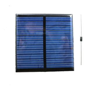 Panel Solar De 5.5v De 6.5cm De Ancho X 6.5cm De Largo.