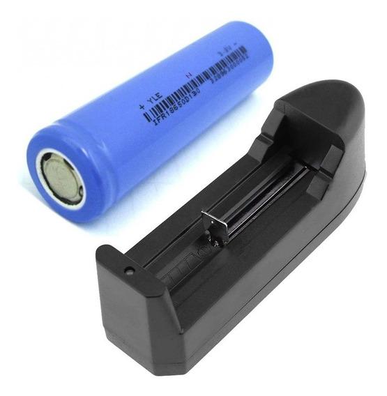 4 Bateria 18650 Vap 3,7v Para Vape Importada + 1 Carregador