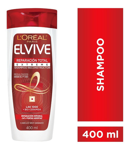 Shampoo Reparacion Total Extreme X400ml Elvive Loreal Paris