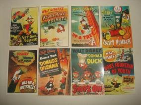 Kit 8 Cartões Postais Antigos Do Pato Donald - Disney