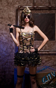 Disfraz Militar, Lenceria Sexy, Erotica, Milica