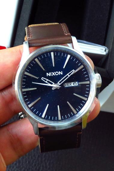 Reloj Nixon Hombre Sentry Leather A105 1524