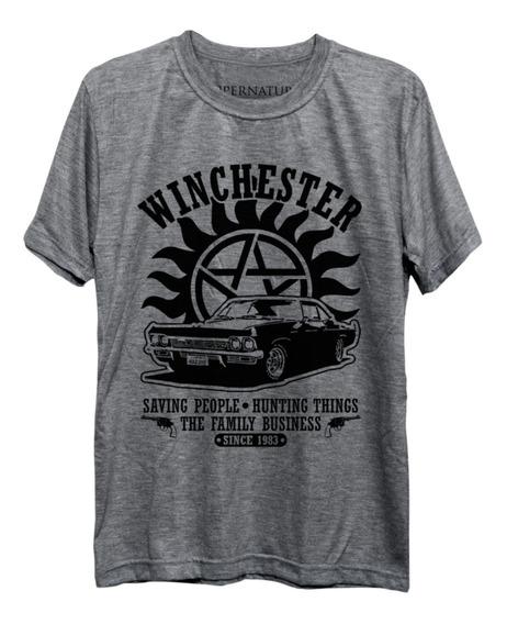 Camiseta Winchester Supernatural Sobrenatural Dean Freekz