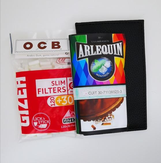 Tabaco De Mentol Kit Pará Armar Cigarrilos Tabaquera Filtros