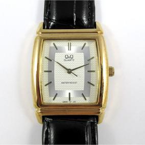 Relógio Q & Q Miyota Masculino Pulseira De Couro Q880j101y