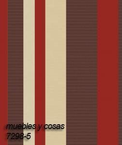 Papel Muresco Wallcovering Vinilico 7298-5 Rayado Bordo