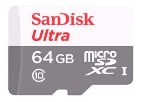 Cartão Memória Micro Sd 64gb Sandisk Câmeras Cftv Celular Tf