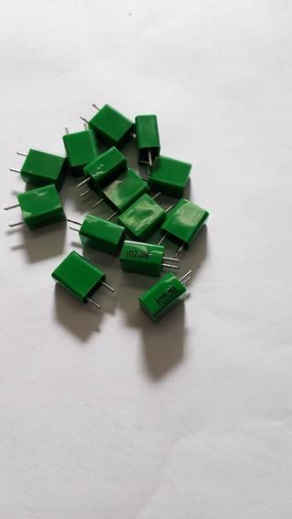 Indutor 1mh 102 Radial Retangular Pacote Com 10 Unidades
