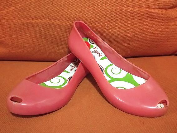 Zapatos Jelly Flats Plástico Figurín No. 25 Dama Como Nuevos