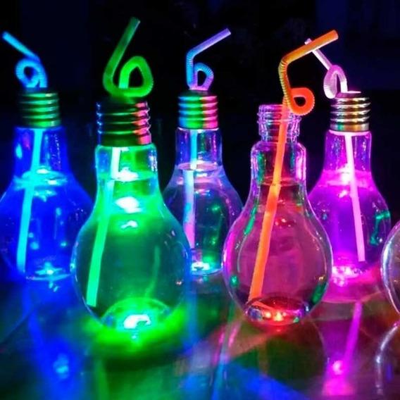 30 Vasos Lámpara Trago Largo Led Fiestas Cotillon Luminoso