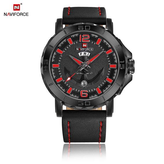 Relógio Masculino Estilo Militar Naviforce 9122 Resistente