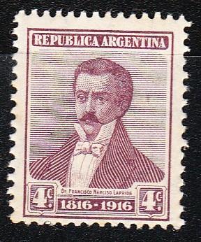 Argentina 1916 Sello 4 Centavos Mello Nº 200 Mint