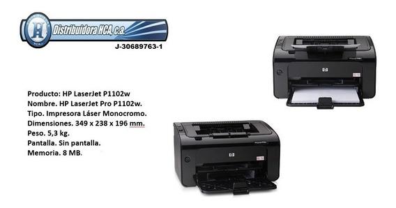 Impresora Hp 1102w Laser Pro Monocromatica Oferta