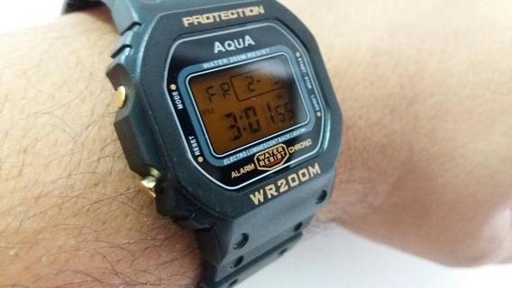 11 Relógio Masculino Digital Barato Aqua Prova D