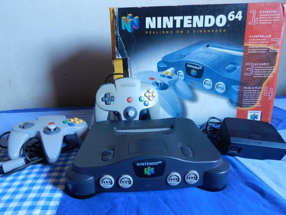 Nintendo 64 Na Caixa + 2 Controles + Jogos