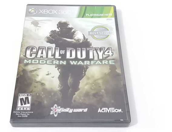 Call Of Duty 4 Modern Warfare Xbox 360 Original Platinum Hit