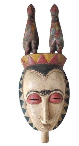 Máscara Africana De Madeira Decorativa