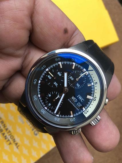 Iwc Aquatimer Acero 42mm Solo Reloj Caucho Nuevo