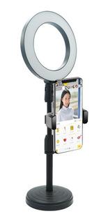 Aro De Luz Led 16cm + Tripode Selfie Celular + Soporte Cel