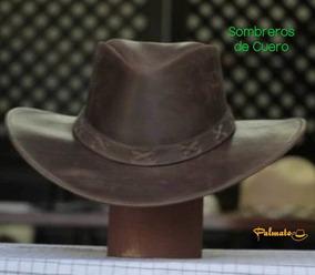 Sombrero De Cuero Fino Café (61)