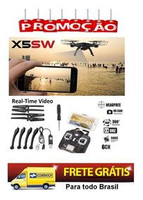 Drone Syma X5sw-1 Preto Fpv Wi-fii - Video Em Tempo Real