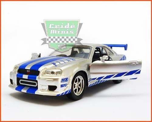 Jada Nissan Skyline Gt-r 2002 Velozes E Furiosos Escala 1/32