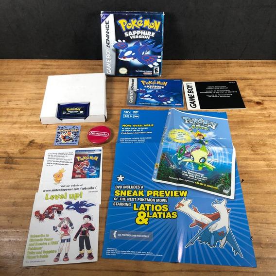 Pokémon Sapphire 100% Original Cib P/ Gameboy Advance Raro!