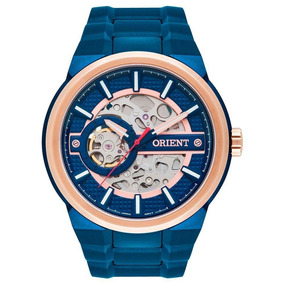 Relógio Masculino Orient Automático Nh7br001 D1dx Azul