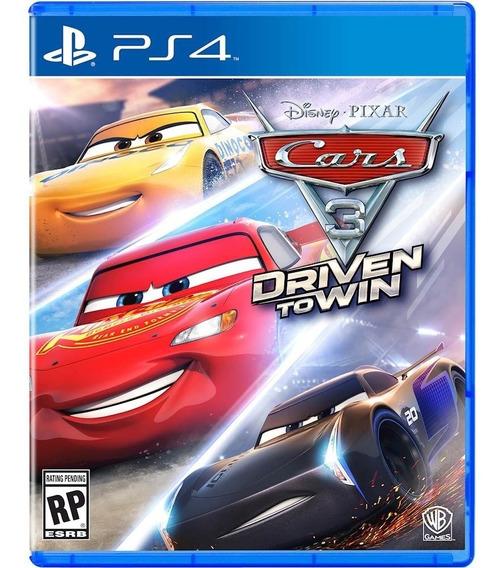 Cars 3: Drive To Win Ps4 Mídia Física Lacrado Novo