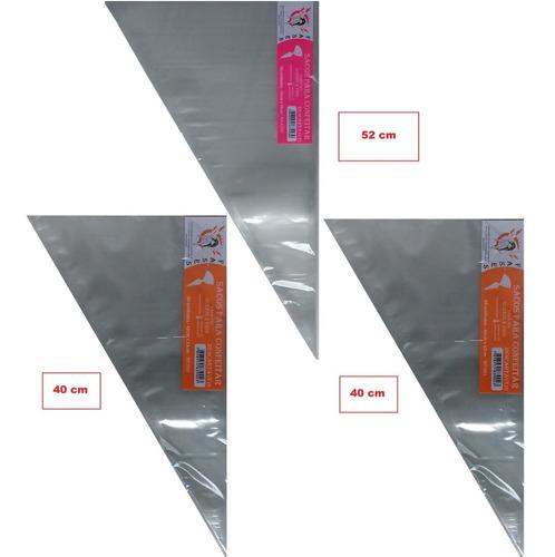Saco De Confeitar Kit 02 Gran. + 02 Méd. Com 100und P/ Model