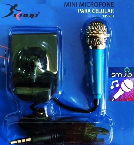 Mini Microfone P/ Celular C/ Saída P/ Fone Youtubers / Sing