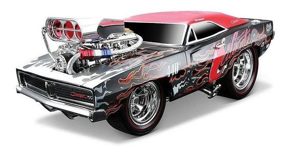 Carro Escala 1/18 Dodge Charger 1969 Maisto Muscle Machines