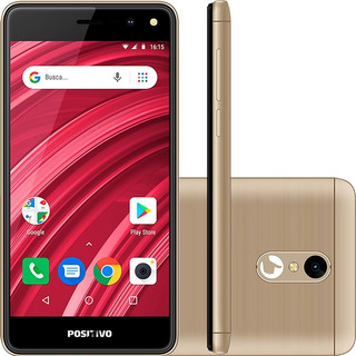 Smartphone Positivo Twist Fit 8gb Quad-core Dourado - S509