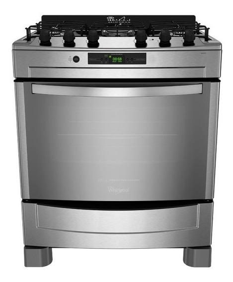 Cocina Whirlpool 5 Hornallas 76cm Acero Inox Wf876xg *10
