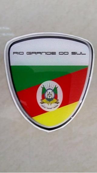 Bandeira Do Rio Grande Do Sul Adesivo Resinado Escudo .