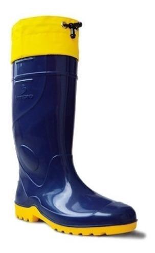 Bota Azul (par) Acquatic Cano Longo Impermeável - Innpro