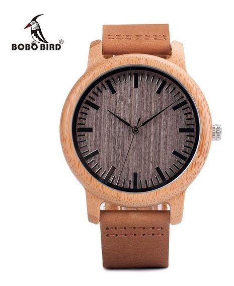 Relógio Unissex Bambu Madeira Analog. Bobo Bird A18 Lindo!