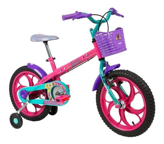 Bicicleta Barbie Aro 16 Rosa Caloi